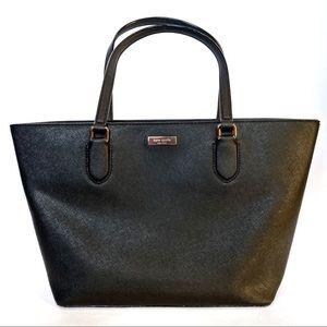 Kate Spade Black Leather Tote Purse